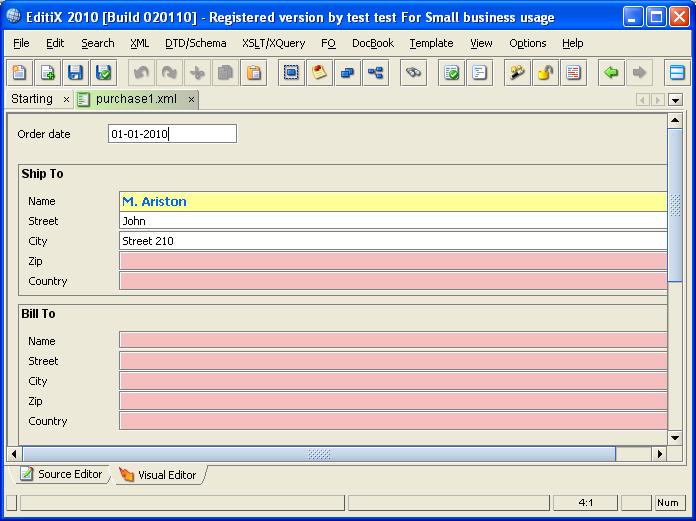 XML Form Editor