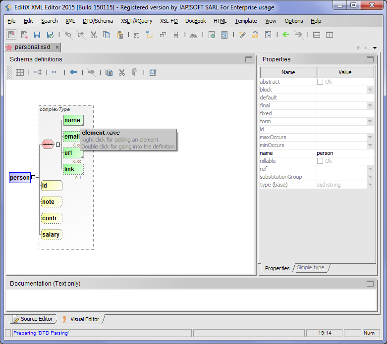 EditiX XML Editor (for Windows with an installed Java VM) full screenshot