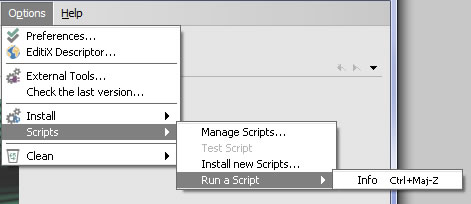Run a Script for EditiX XML Editor 2015